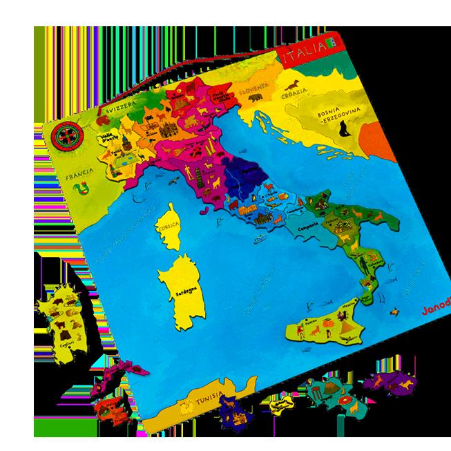 Puzzle magnetico - Italia